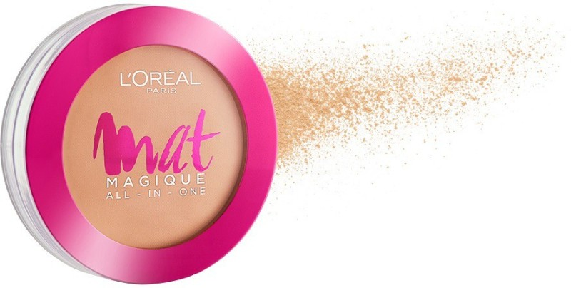L'Oreal Paris Mat Magique All-In-One N6 Nude Honey Compact(N6 NUDE HONEY, 6 g)