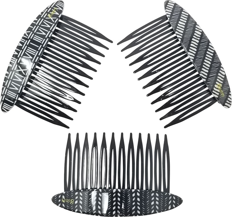 Evogirl Hair Comb Elegant Print Glossy Premium Combo Matte Finish hair combo(Multicolor)