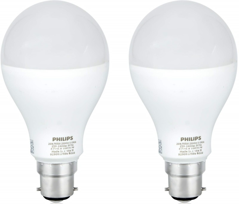 PHILIPS 21 W Round B22 LED Bulb(White, Pack of 2)