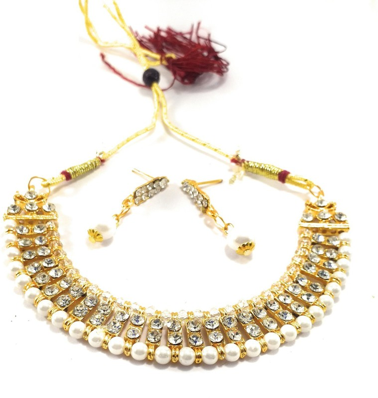 Tiank Innovation Metal, Copper, Alloy, Brass Jewel Set(Gold, White)