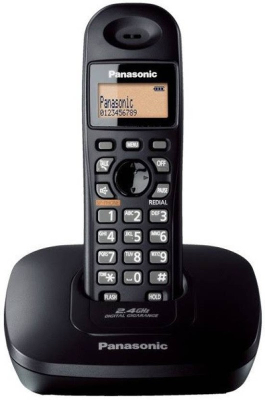 Panasonic KX-TG3611SXB Cordless Landline Phone (Black) Cordless Landline Phone(Black)