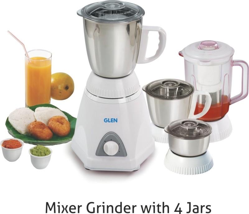GLEN GL 4026 PLUS SA4026PLUS750 750 W Mixer Grinder(White, 4 Jars)