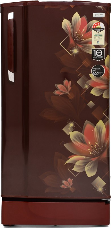 Godrej 190 L Direct Cool Single Door 3 Star Refrigerator with In-Built MP3 Player(Noble Wine, RD 1903 PM 3.2 NBL WIN)