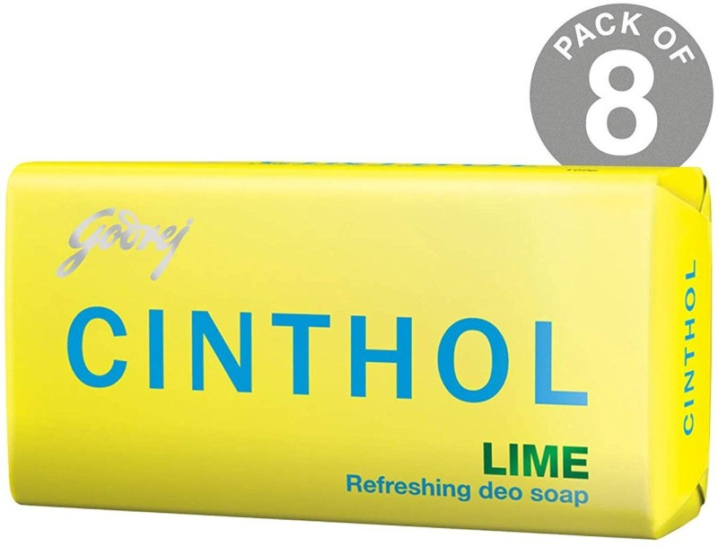 Cinthol Lime Soap, 100g (Pack of 8)(100 g, Pack of 8)