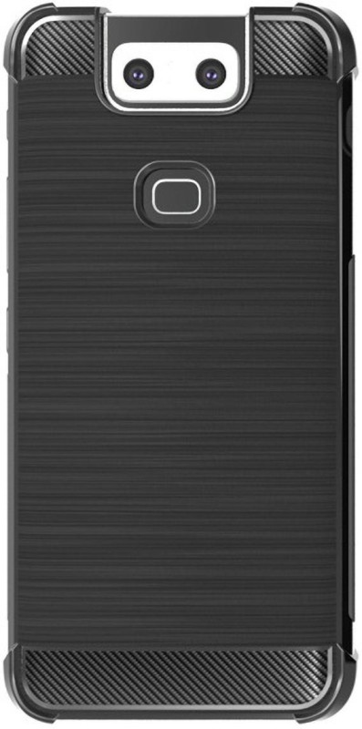 SmartLike Back Cover for Asus Zenfone 6(Black, Grip Case, Silicon)