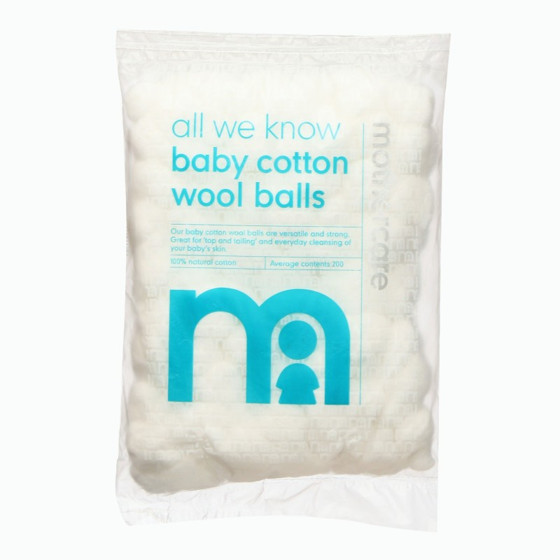 Mothercare Baby Cotton Wool Balls 200Pcs -DA365(200 Units)