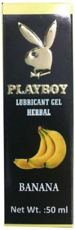 NightBlue PlayBoy Herbal Lubricant Gel -Banana Flavour (50 ml) Lubricant(50 g)