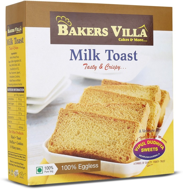 Vipul Dudhiya Milk Toast Sweets flavored Milk Rusk(200 g)