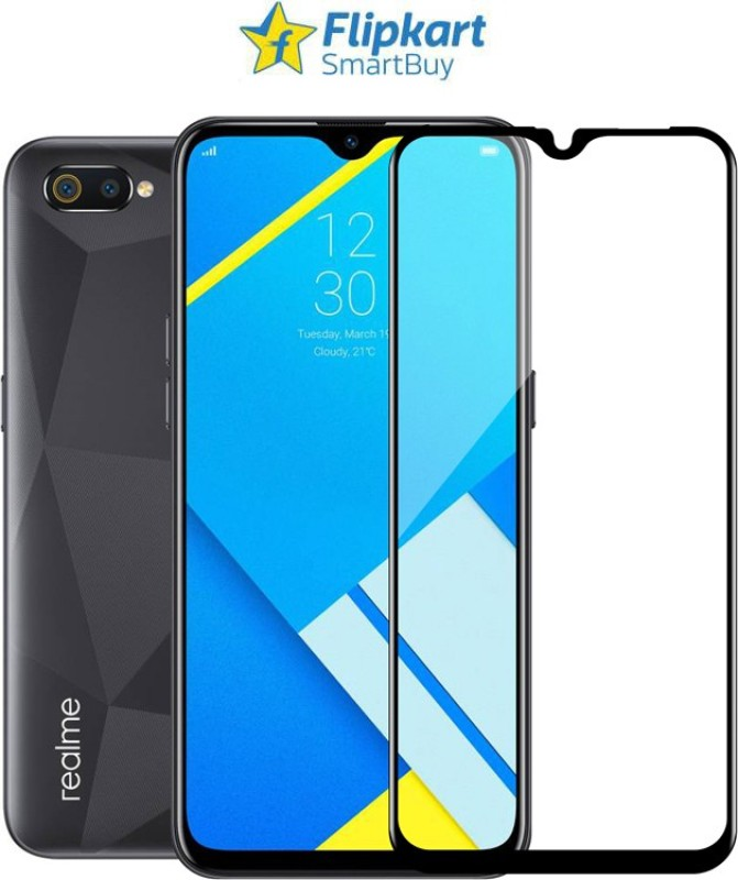Flipkart SmartBuy Edge To Edge Tempered Glass for Realme C2, OPPO A1K(Pack of 1)