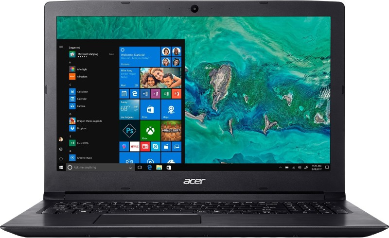 Acer Aspire 3 Pentium Quad Core - (4 GB/1 TB HDD/Windows 10 Home) A315-32 Laptop(15.6 inch, Shale Black, 2.1 kg, With MS Office)