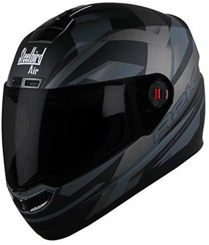 Steelbird AIR SBA-1 R2K Motorbike Helmet(Matt Black/Grey)