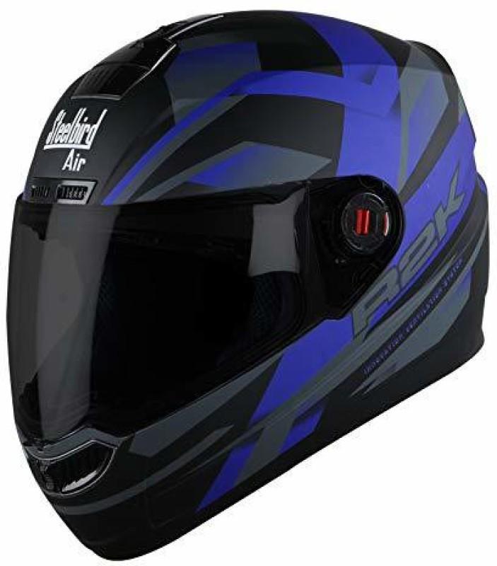 Steelbird AIR SBA-1 R2K Motorbike Helmet(Matt Black/Blue)