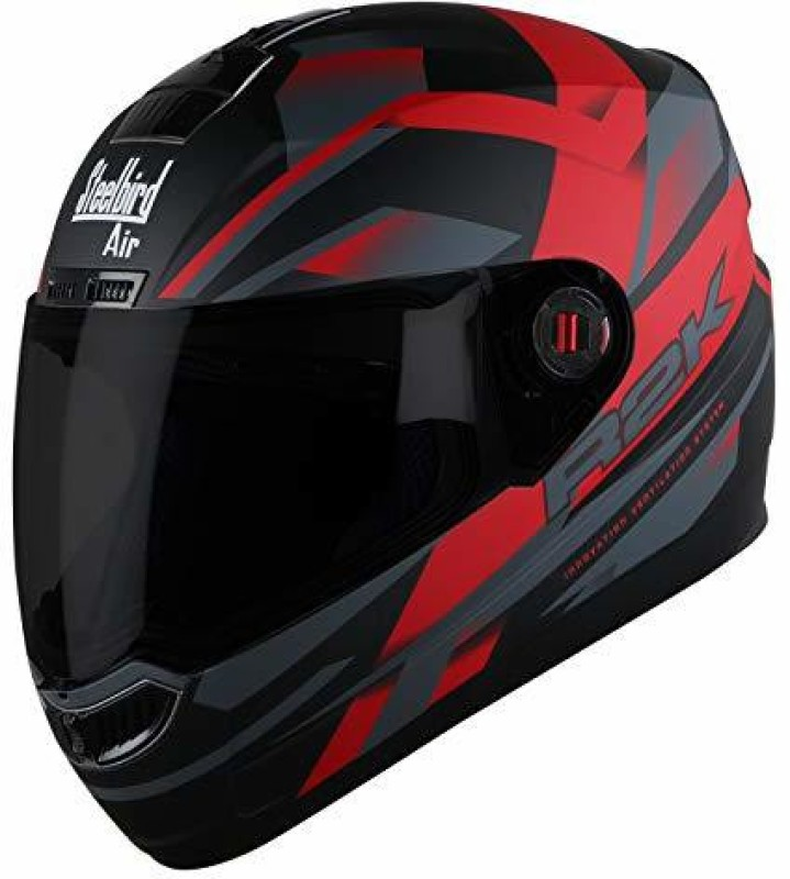 Steelbird AIR SBA-1 R2K Motorbike Helmet(Matt Black/Red)
