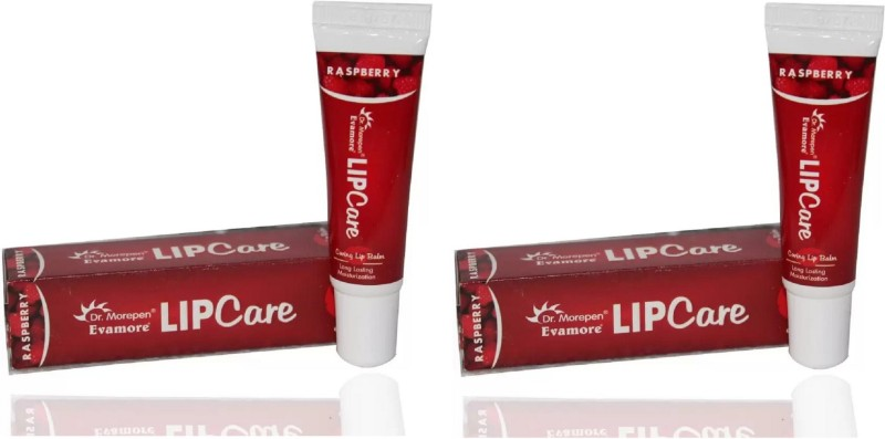 Dr. Morepen Evamore Lip care lip balm Raspberry ( 2 Pc x 10 g)(No Color)