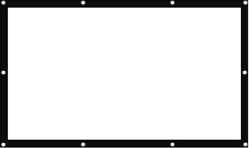 WDS ®Eyelet Projector Screen 100