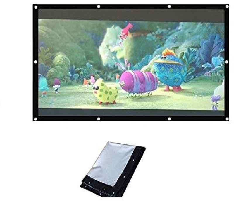 WDS ®Eyelets Projector Screen 8 X 6 feet In Imported High gain Fabric (Aspect Ratio 4 : 3) Projector Screen (Width 500 cm x 44.5 cm Height)