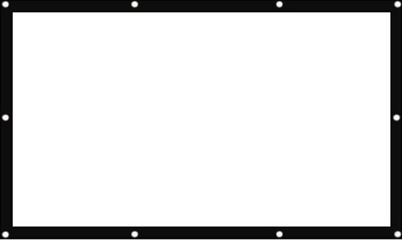 WDS ®Eyelets Type Foldable 4:3 Ratio Format, 120 Inches Diagonal Projector Screen, Supports Full HD 1080 P, 3D, 4K Ready Technology, 8 x6 ft Projector Screen (Width 500 cm x 44.5 cm Height)