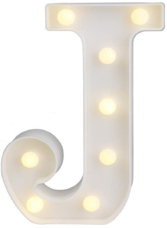 QUACE 3D Letter LED Night Light Wall Hanging Marquee Table Lamp(23.6 cm, J)