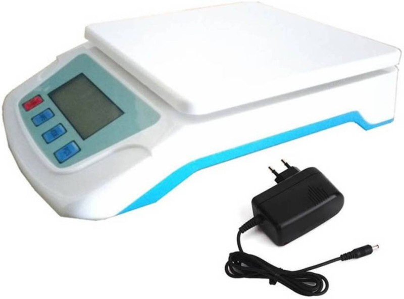NIBBIN Ts-500v JIVO00765V Digital 30 kg Kitchen Weight Machine with Adapter Weighing Scale (Multicolor) Weighing Scale(White)