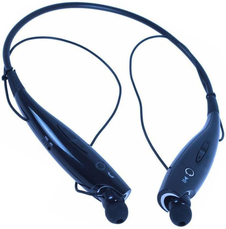 Delmohut Bluetooth Headset Mini Mi V4.0 Music Sport Neckband Stereo Bluetooth Headset with Mic(Black, In the Ear)
