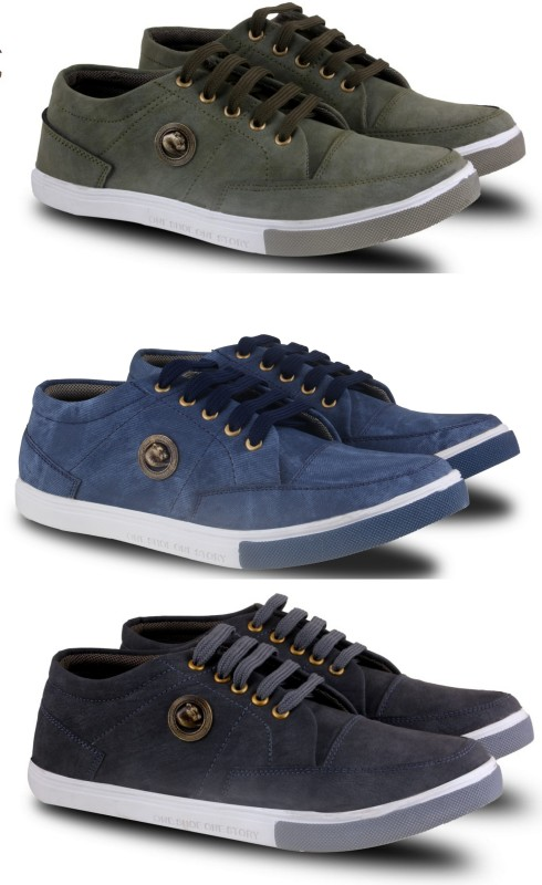 Fabbmate  Combo of Men's Casual Shoes.(Pack of 3) Sneakers For Men(Multicolor)