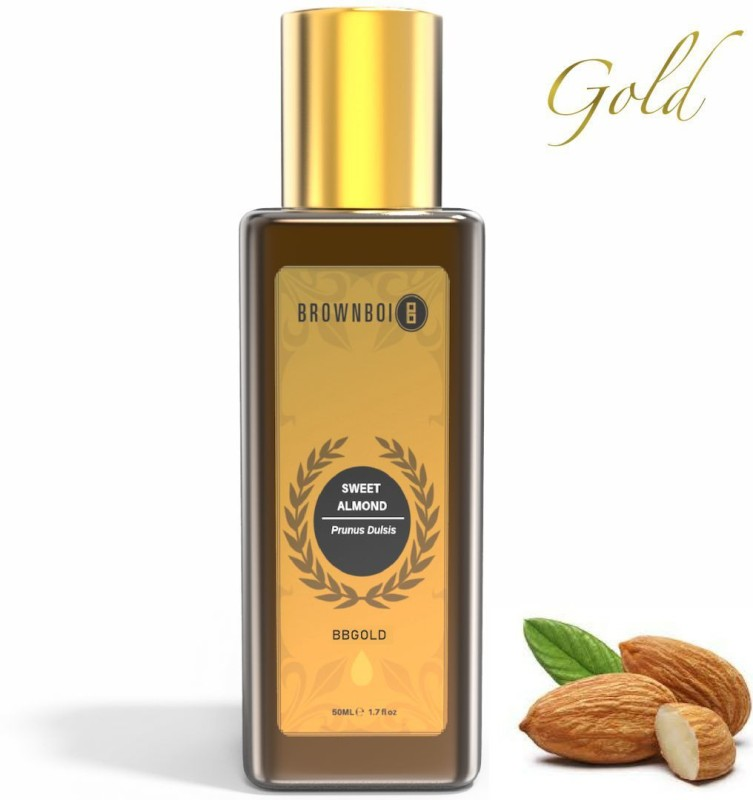 BrownBoi Pure Cold Pressed Sweet Almond Oil Unrefined(50 ml)