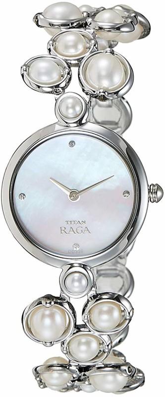 Titan 9971SM01 Raga Pearl Analog Watch - For Women