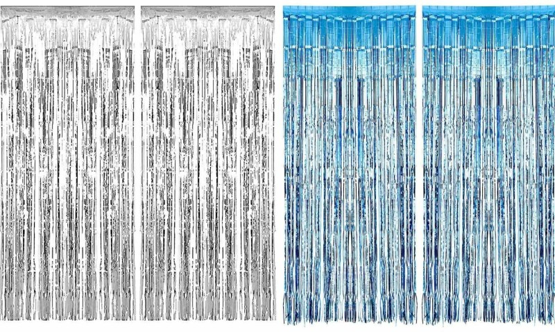 check MRP of blue colour curtains Urvi Creations