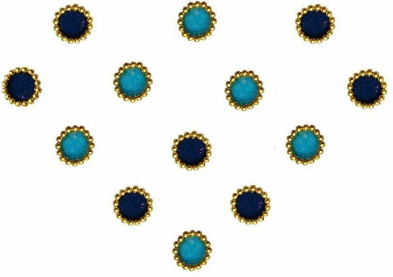 Comet Busters Traditional Small Round Blue Bindi Forehead Blue Bindis(Indian Traditional Bindi)