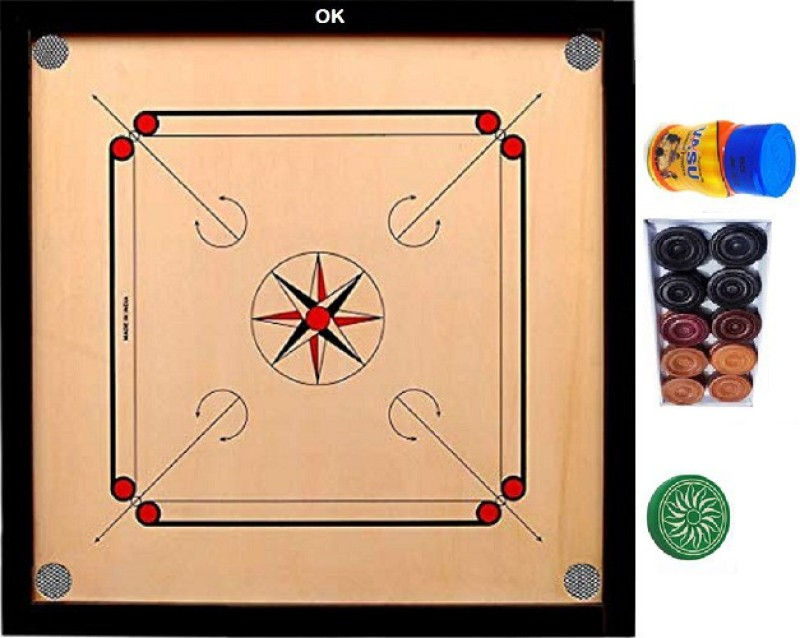 Click N Home Carrom Board Game 24x24 Inches Wooden 24 Inch Board With Coins Set Striker Powder 24 Inch Carrom Board Brown Buy Online In Cook Islands At Cook Desertcart Com Productid 139541122