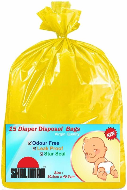 Shalimar Baby Yellow (Pack of 90) Diaper Disposal Bin(40)