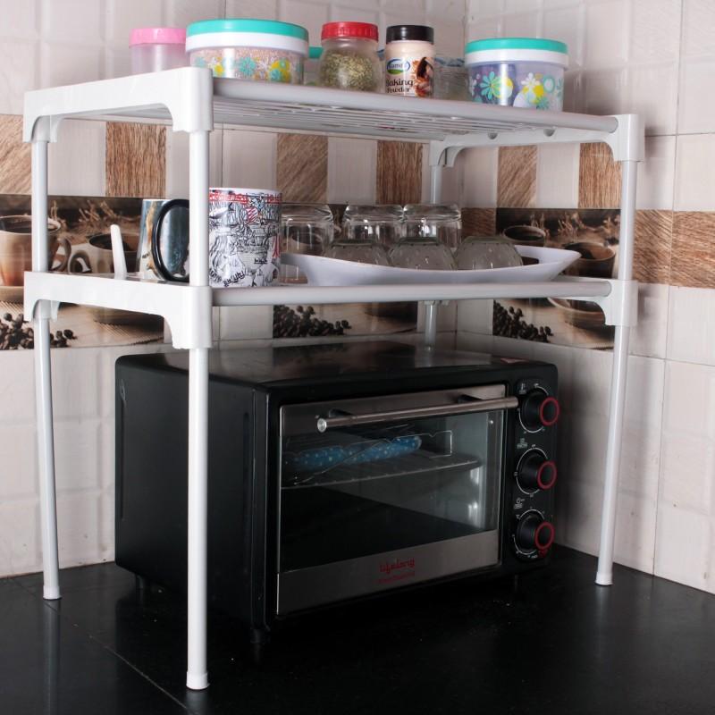 Ebee Iron Kitchen Rack(White)