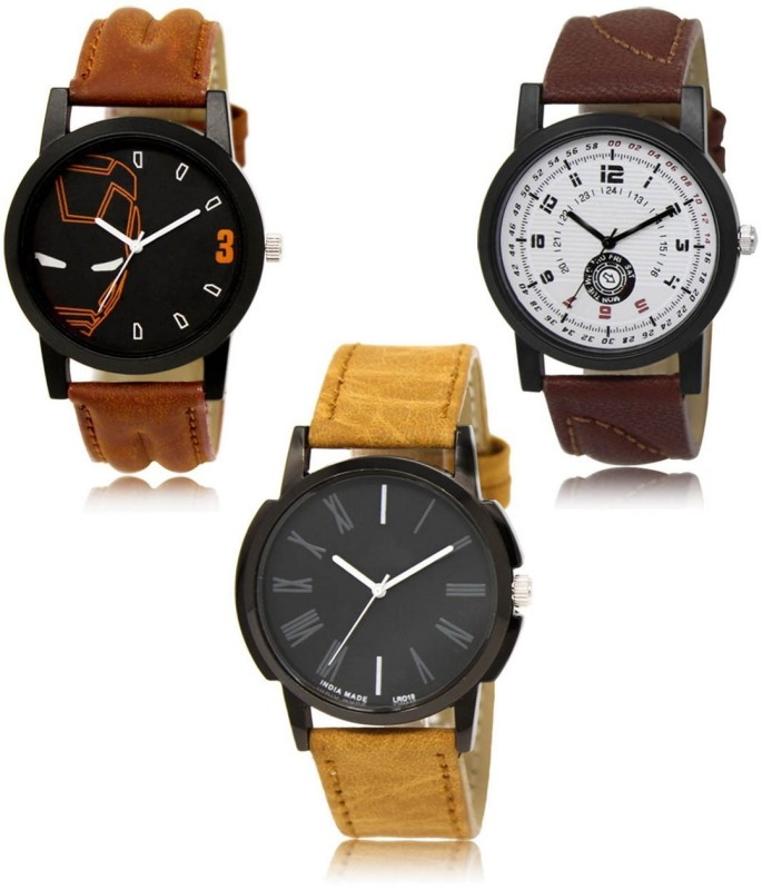 FERRIZZO LR04-LR11-LR19 New latest Designer Combo of 3 Analog Watch - For Men