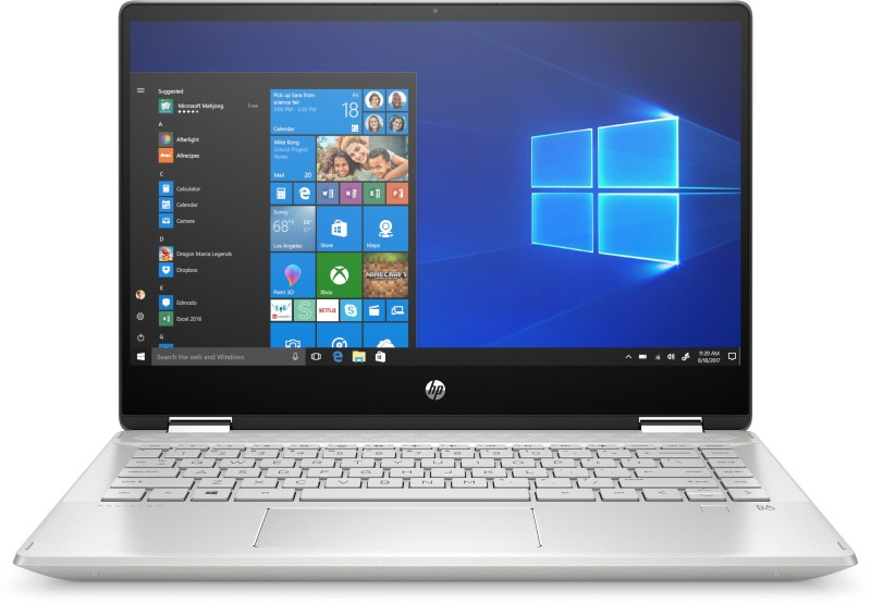 HP Pavilion x360 Core i3 8th Gen - (4 GB/1 TB HDD/256 GB SSD/Windows 10 Home/2 GB Graphics) 14-dh0044TX 2 in 1 Laptop(14 inch, Mineral Silver, 1.65 kg, With MS Office)