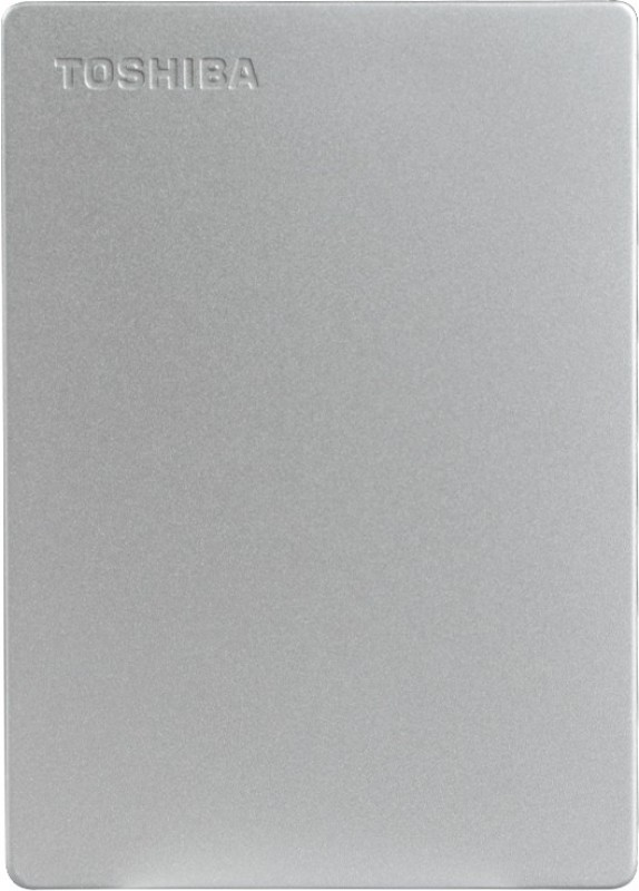 Toshiba Canvio Slim 1 TB External Hard Disk Drive(Silver Metallic)