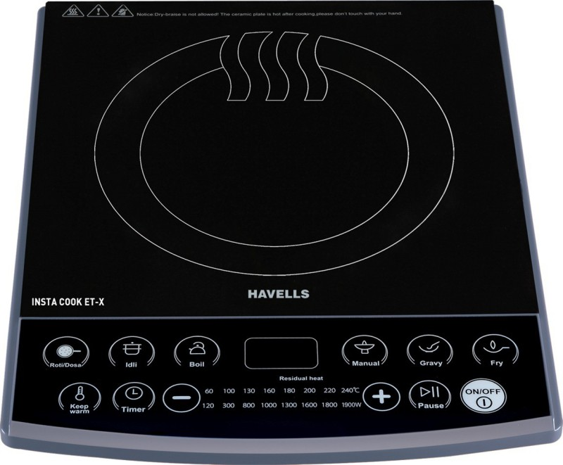 Havells INSTA COOK ET-X Induction Cooktop(Black, Push Button)
