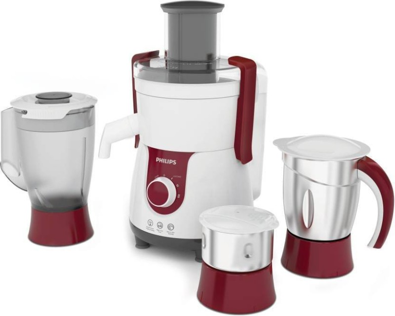 Philips HL 7715 WITH 700W MOTOR 700 Juicer Mixer Grinder(WHITE/RED, 3 Jars)