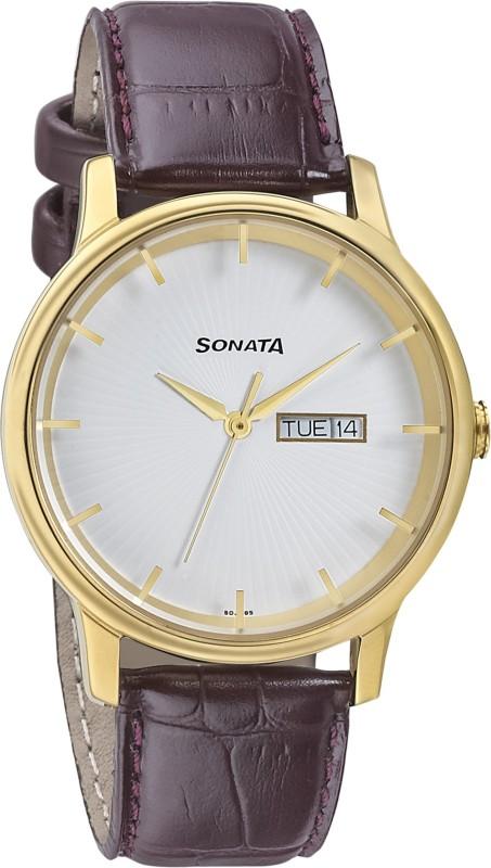 Sonata 7134YL02 Analog Watch - For Men