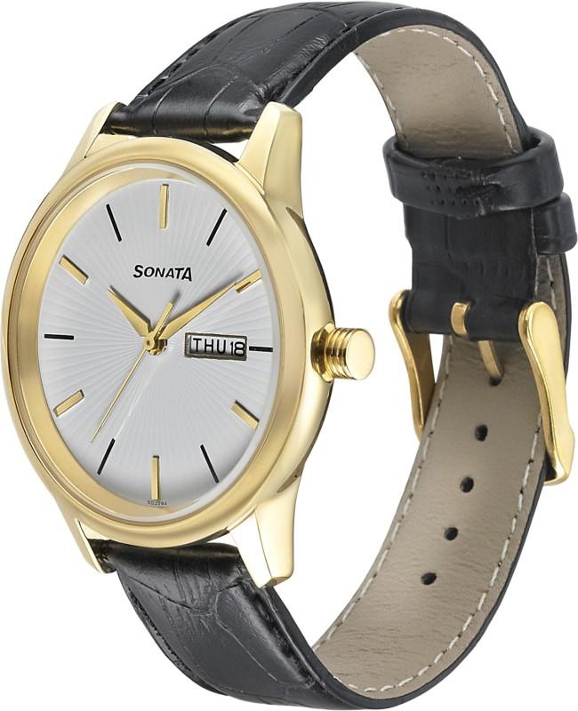 Sonata 7134YL01 Analog Watch - For Men