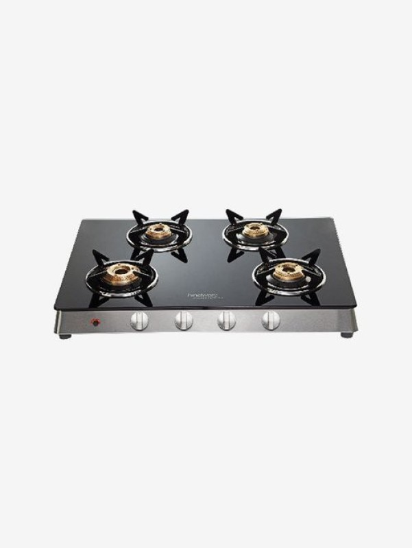 Hindware Flavio 4B AI Glass, Steel Automatic Gas Stove(4 Burners)