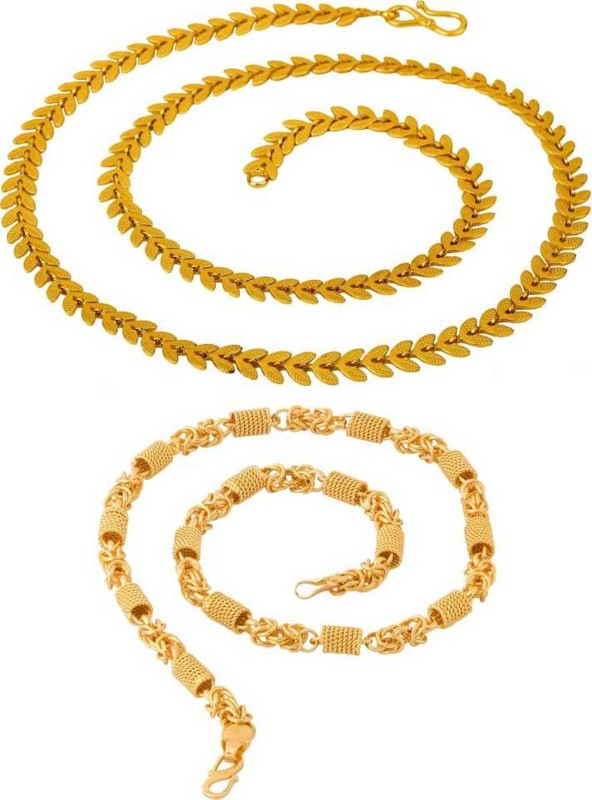 TIRUPATI Deals trendy and fancy exclusive design neck chain for men and boys combo pack Chain Necklace for men & boys, And ,Women & Girls Gold-plated Brass Chain Jewelry Gift for Him, Boy, Men, Father, Brother, Boyfriend, Party Wear, Daily Wear Gold-plated Plated Alloy Chain