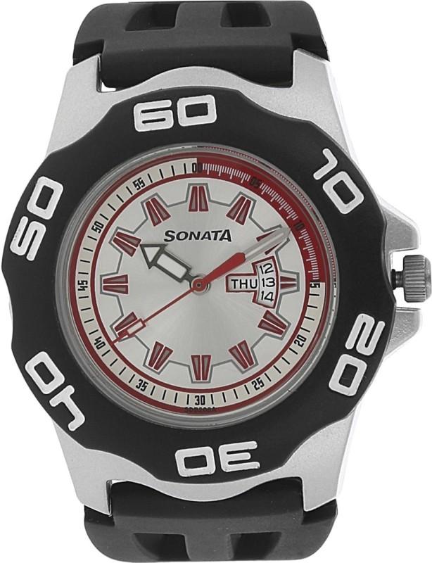 Sonata NF7929PP05J Analog Watch - For Men
