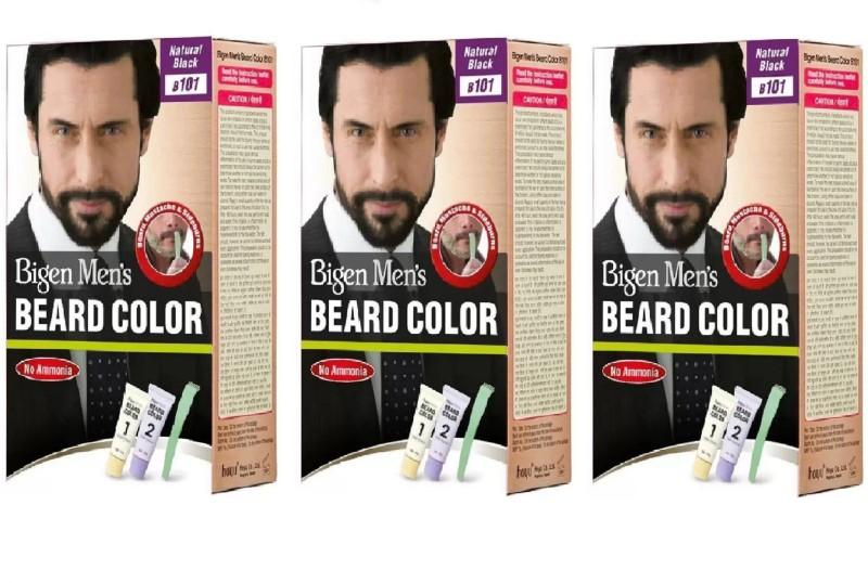 Bigen Mens Natural Black B-101 Beard Color Hair Color(Black)