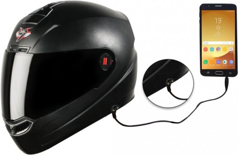 Steelbird SBA-1 7Wings Hands Free Motorbike Helmet(Dashing Black with Smoke Visor)