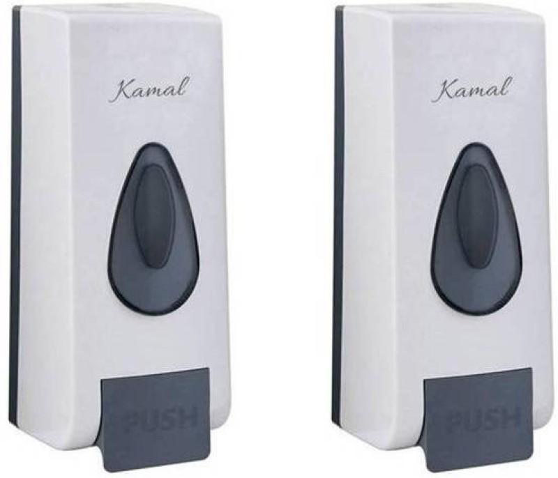 Kamal DuraFit White (Set of 2) 350 ml Soap, Shampoo Dispenser(White)
