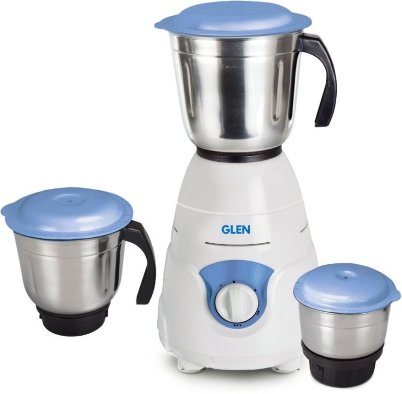 GLEN Mixer Grinder SA4029JAR3_NEW 550 Juicer Mixer Grinder(White, Blue, 3 Jars)