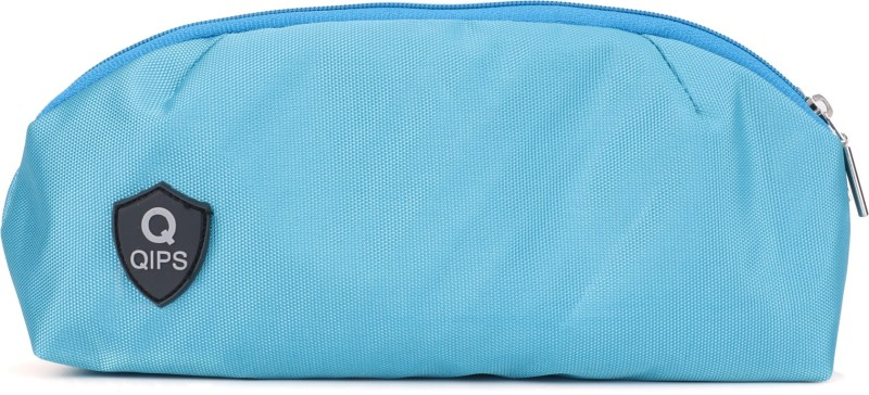 QIPS QIPS PLAIN COLOUR QIPS PLAIN COLOUR Art Polyester Pencil Box(Set of 1, Light Blue)
