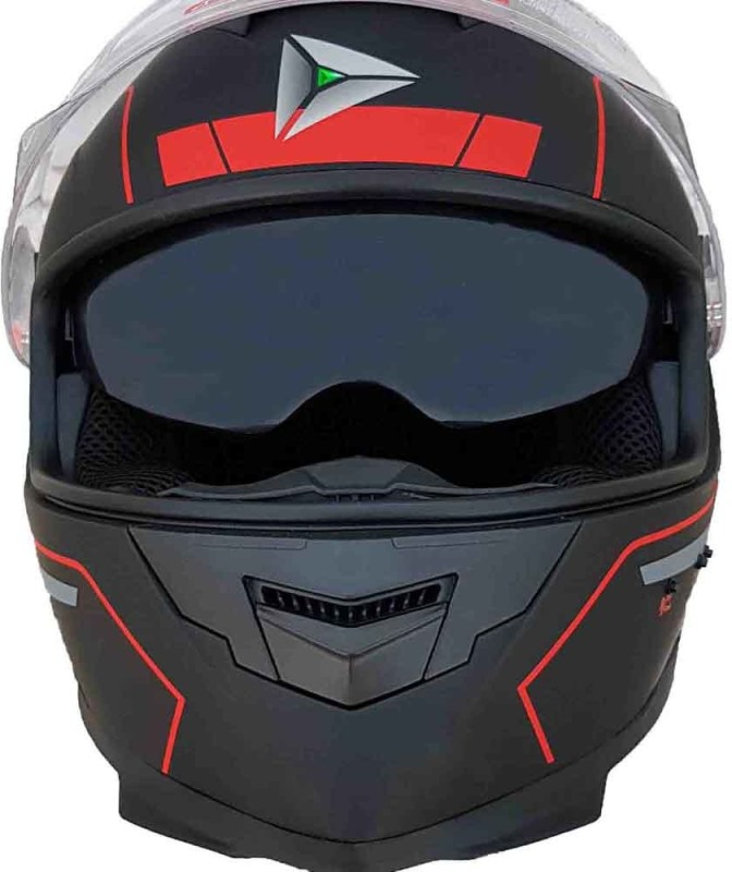 Greenstone G6 Full Face Smart Bluetooth Helmet with Brake/Indicator & Voice Assistance Motorbike Helmet(Black)