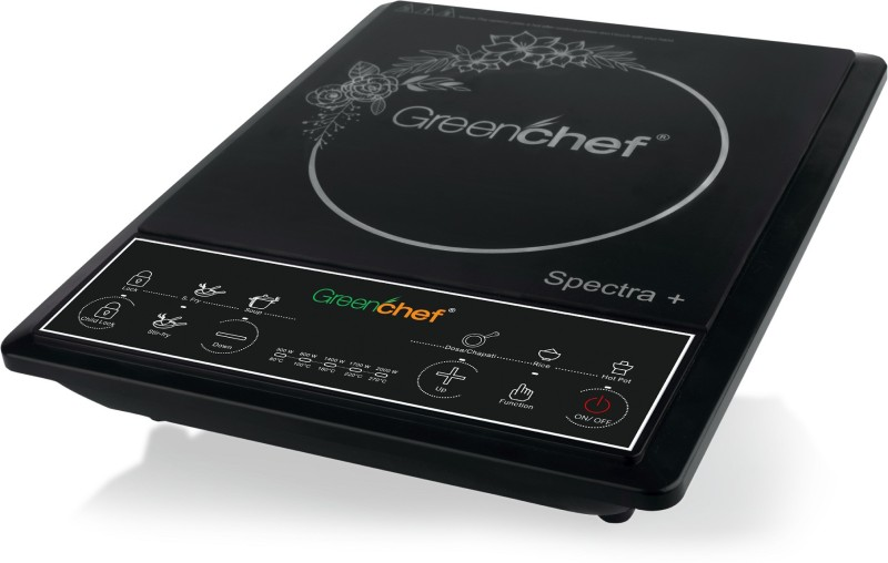 Greenchef IS1420 Induction Cooktop(Black, Push Button)