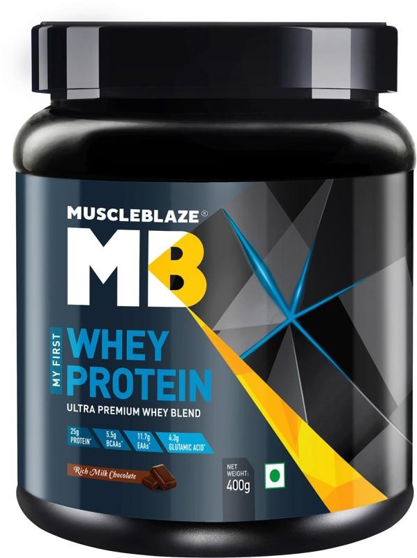 MuscleBlaze 100% Whey Protein(400 g, Rich Milk Chocolate)
